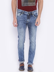 Arrow Men Blue Slim Fit Mid Rise Clean Look Jeans