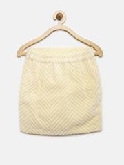 YK Girls Yellow Pencil Skirt
