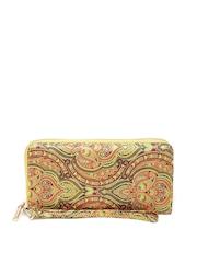 Lisa Haydon for Lino Perros Women Multicoloured Yellow Ethnic Print Wallet