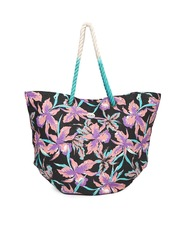 Roxy Black Floral Print Oversized Tote Bag