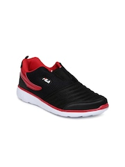 FILA Men Black & Red Smash VI Slip-Ons