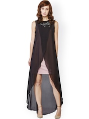 AND Black High-Low Sheer Dress