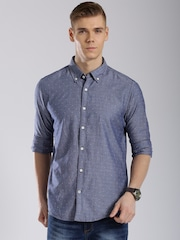Tommy Hilfiger Blue New York Fit Casual Shirt