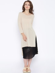 ONLY Nude-Coloured High-Low Tunic