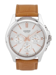 CASIO Enticer Men Silver-Toned Dial Watch A1079