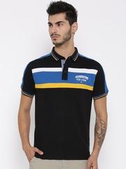 FILA Men Black FITZROY Striped Polo T-shirt