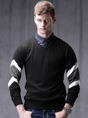 WROGN Black Slim Fit Sweater