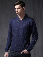WROGN Men Blue Sweater