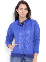 Campus Sutra Blue Bomber Jacket