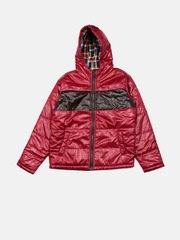 U.S. Polo Assn. Kids Boys Red Hooded Padded Jacket