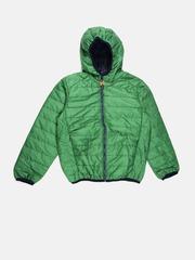 U.S. Polo Assn. Kids Boys Green Hooded Puffer Jacket