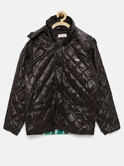 U.S. Polo Assn. Kids Boys Brown Quilted Jacket