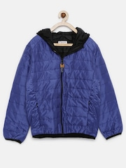 U.S. Polo Assn. Kids Boys Blue Hooded Bomber Jacket