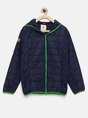 U.S. Polo Assn. Kids Boys Navy Hooded Bomber Jacket