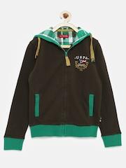 U.S. Polo Assn. Kids Boys Brown Hooded Sweatshirt