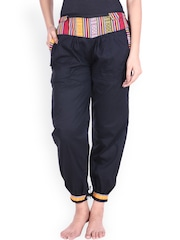 SOUNDARYA Navy Cuffed Trousers