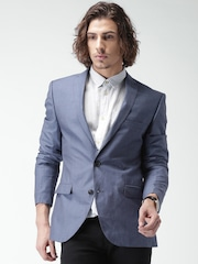 SELECTED Blue Woollen Single-Breasted Blazer