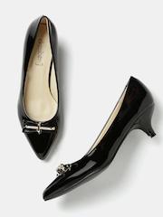 DressBerry Women Black Pointy-Toed Heels