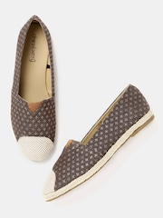 DressBerry Women Brown Printed Espadrilles