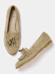 Mast & Harbour Women Beige Tassel Loafers
