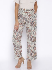 ONLY Multicoloured Printed Casual Wide-Leg Trousers