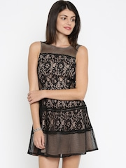 ONLY Women Black Lace Fit and Flare Dress