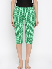 SDL by Sweet Dreams Green Printed Capris SDLC-2416
