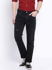 Jack & Jones Black Low-Rise Clark Fit Jeans