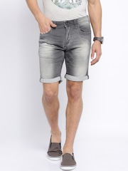 Jack & Jones Charcoal Grey Denim Shorts