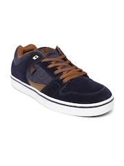 DC Men Navy Suede Course Skateboard Casual Shoes