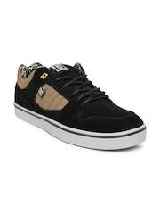 DC Men Black Suede Course Skateboard Casual Shoes