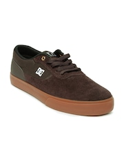 DC Men Brown Switch Super Suede Sneakers