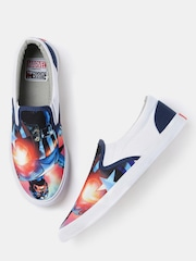 Kook N Keech Marvel Men Multicoloured Printed Slip-Ons