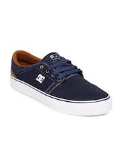 DC Men Navy Suede Sneakers