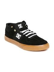 DC Men Black Suede Sneakers