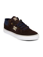 DC Men Brown & Blue Colourblocked Sneakers
