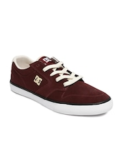 DC Men Burgundy Suede Sneakers