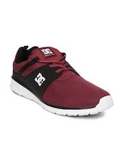 DC Men Maroon & Black Colourblocked Sneakers