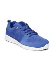 DC Men Blue Suede Sneakers