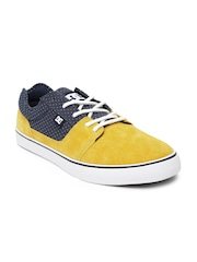 DC Men Yellow & Navy Tonik Tx Sneakers