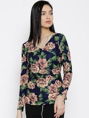 Wills Lifestyle Navy Floral Print Top