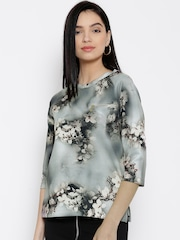 Wills Lifestyle Grey Floral Print Top