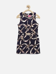 Tiny Girl Navy Printed Sheath Dress