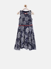 Tiny Girl Navy Floral Print A-Line Dress