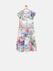 Tiny Girl Multicoloured Floral Print Fit & Flare Dress