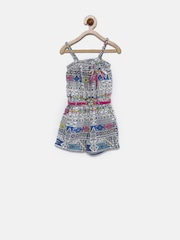Tiny Girl Multicoloured Printed Playsuit