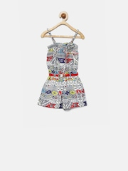 Tiny Girls Multicoloured Printed Playsuit