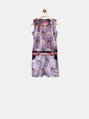 Tiny Girl Pink & Navy Floral Print Playsuit