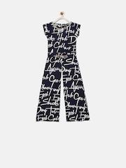 Tiny Girl Navy Printed Polyester Maxi Top