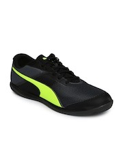 PUMA Men Black Printed Indoor Football Shoes